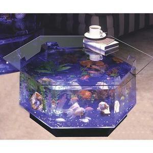 Hexagon Coffee Table 40 Gallon Aquarium Fish Tank Coffee Table Low Rank Big Fish  Tank Living Part 92