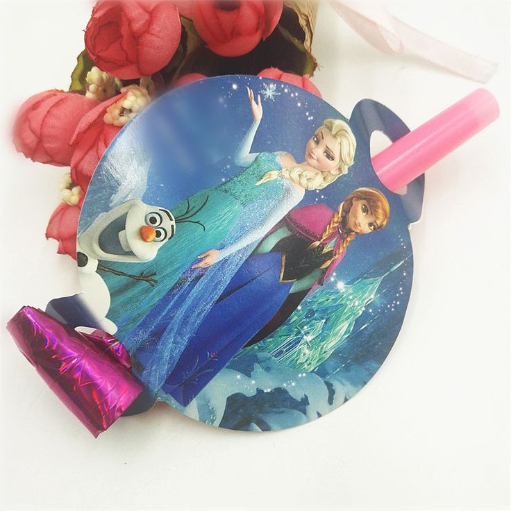6pcs/lot  Elsa And Anna For Kids Birthday Celebration Party Noise Maker Blowout Dragon Birthday Party Decoration party supplies