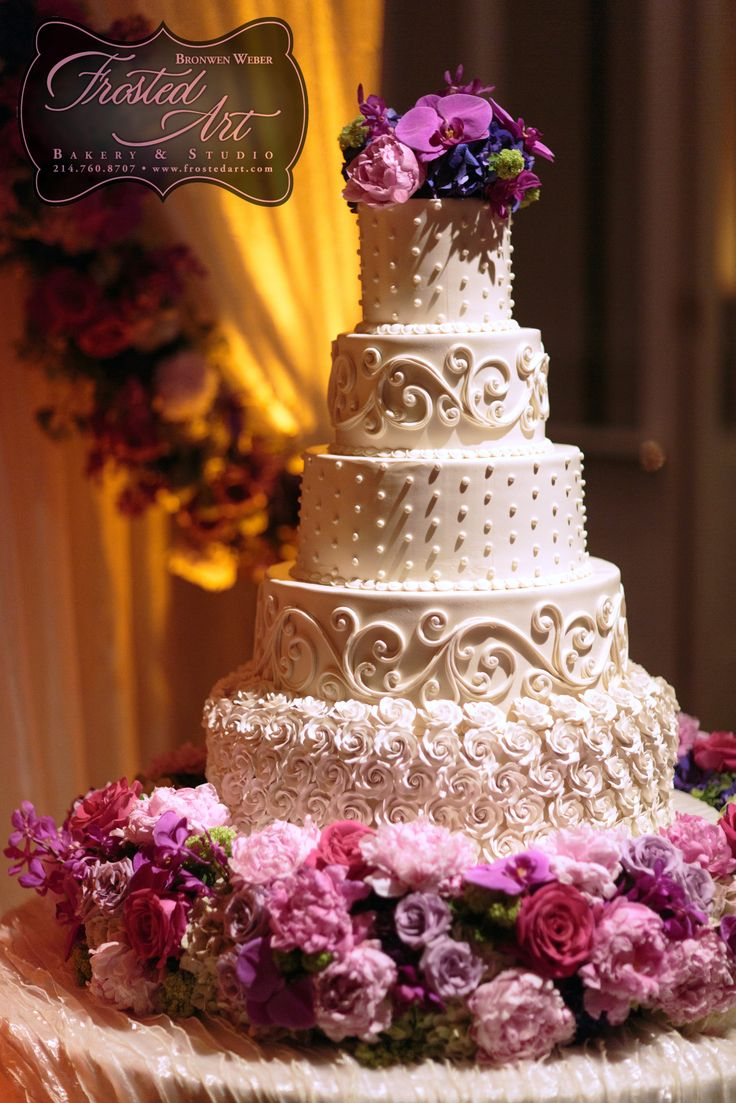 5 Tier Wedding Cake By Frosted Art Bakery And Studio In Dallas Tx