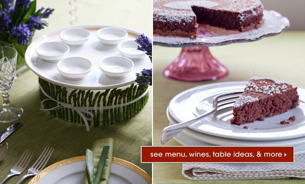 Passover Planner  An elegant seder featuring updated versions of gefilte fish, brisket, and matzoh ball soup, plus table-setting ideas and planning tips