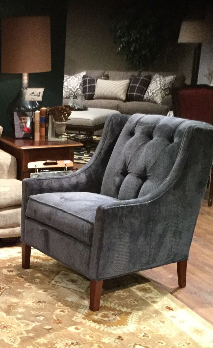 Tufted Accent Chair From Craftmaster Furniture Takes On A New Look With A  Great Fabric!