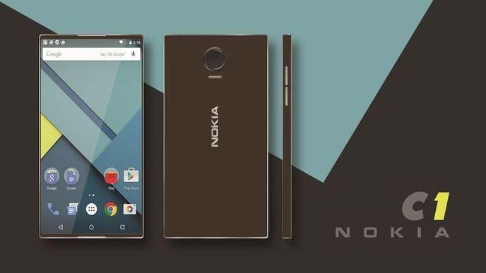 Nokia C1 will be available in Android and Windows: Expected design of Nokia C1