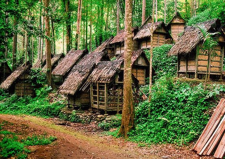Traditional House of Baduy Tribe