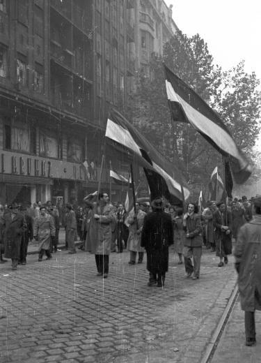 1956 Vonul a nép a Rákóczi úton