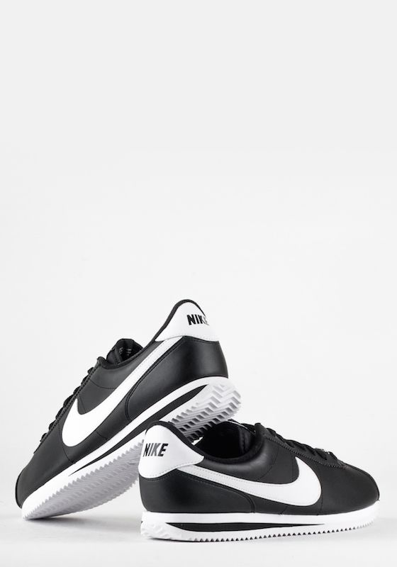 CORTEZ BASIC LEATHER-BLACK/WHITE-METALLI | Nike | Loaded