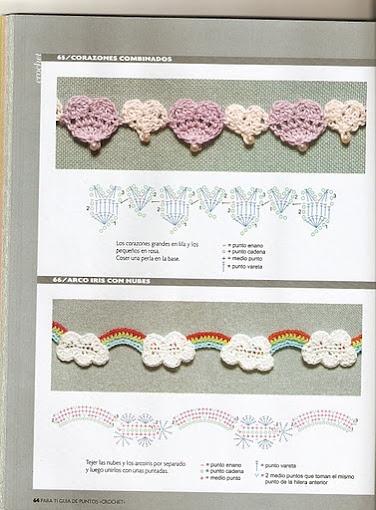 SANDRA PONTOS DE CROCHÊ E TRICÔ...........: Croche decoração