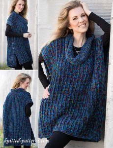 Poncho crochet pattern