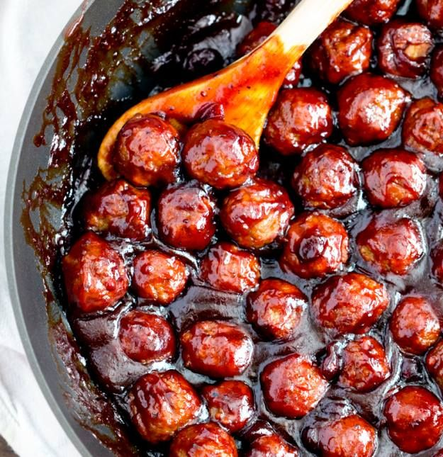 Spicy Cranberry Barbecue Meatballs | 14 Meatball Recipes For Just About Any Occasion