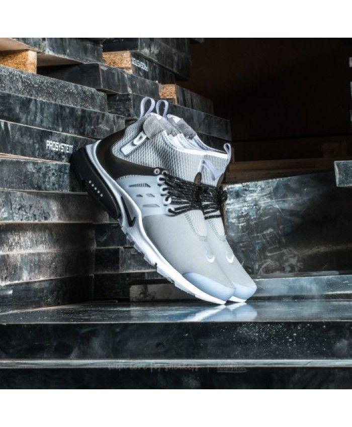 new style be95c 88c7a Nike Air Presto Mid Utility Dark Grey Max Orange Black Trainer