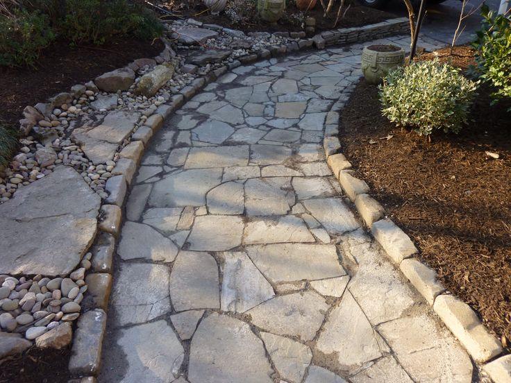 how to build a fieldstone walkway