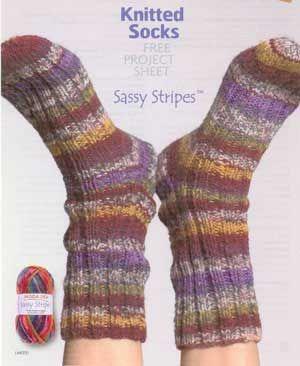 Moda Knitting Pattern Books : Moda Dea Sassy Stripes Sock Pattern Knitting/crochet patterns Pinterest ...