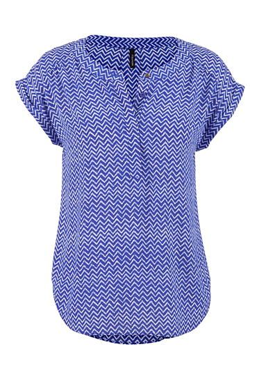 the short sleeve blouse in chevron print (original price, $26) available at #Maurices