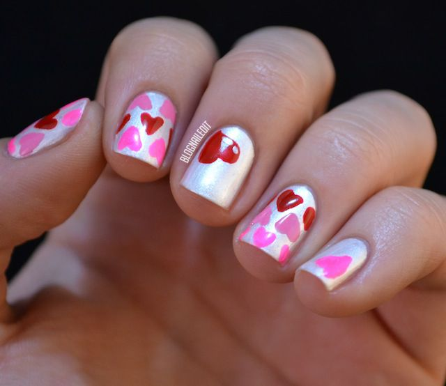 Nail Art Easy Heart: 126 Best Images About Valentine's Nail Designs On