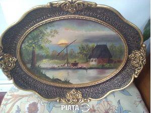 Obiecte de arta, Vanzari, cumparari, Vand tablou inramat, original, unicat, peisaj rustic, imaginea 1 din 1