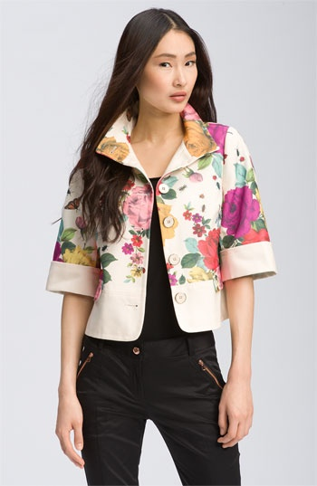 Garden Print Crop Jacket