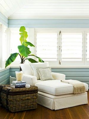 Essential for full relaxation in a seaside home - a comfortable reading spot.