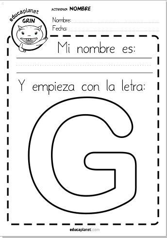 Actividad escribe tu nombre preescolar ficha GRATIS