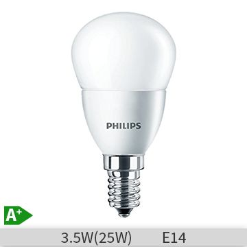 Bec LED Philips CoreLed luster P47, 3.5-25W, E14, 827, 15000 ore, lumina calda, mat, 871829178703700