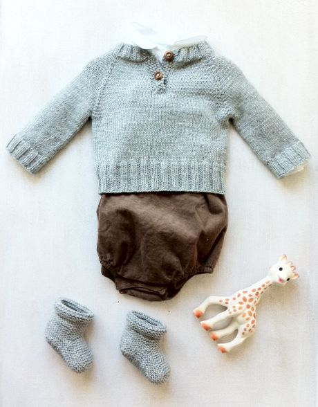 Not sure of the source, but I love everything about this baby boy ensemble.