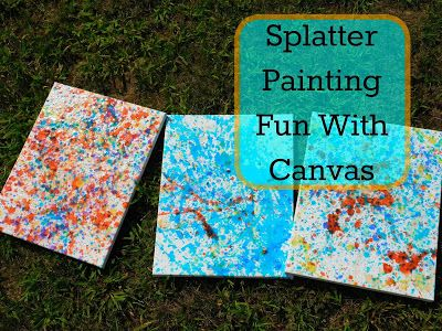 Our Unschooling Journey Through Life: Art Project #42: Splatter Paint Canvas