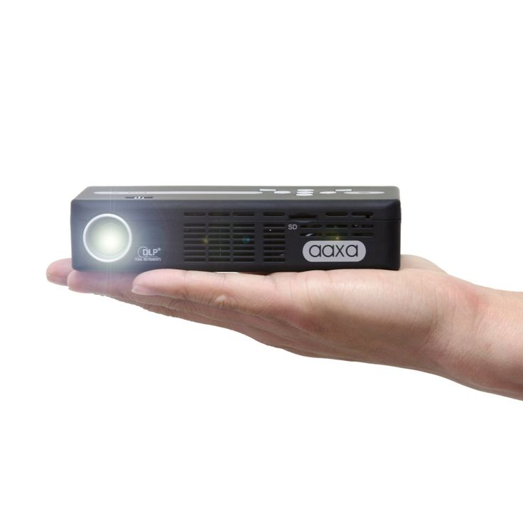 The AAXA P4-X Pico Projector adds a mini HDMI port to more typical choices and can read files from memory.