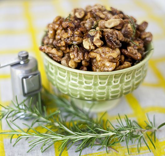 rosemary walnuts. used walnuts, almonds and pecans; used brown sugar ...