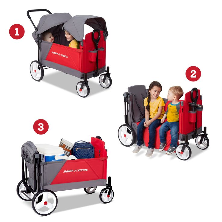 Radio Flyer, Discovery Stroller Wagon with Canopies