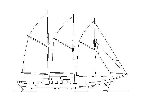 Arquivos barcos veleiros autocad — Bloco Autocad