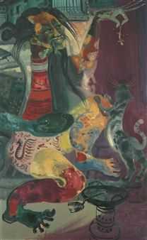 artist gunawan | Hendra Gunawan (Indonesian, 1918 - 1983)