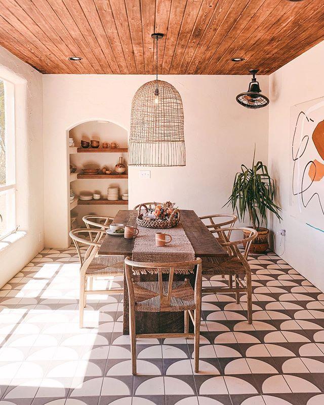 Posada By The Joshua Tree House Sagauro National Park Tucson Az Airbnb Home Decor Fireclay Tile Dining