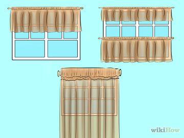 como hacer cortinas de cocina