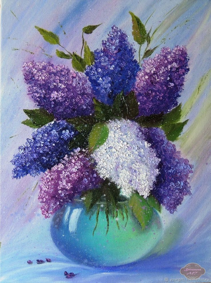 Bouquet Of Lilac In A Vase Oil Painting Buy Or Order In An Online Shop On Li Mana Vietne In 2020 Lilac Painting Oil Painting Flowers Art Painting Oil