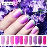 Good BELLE FELLE ml UV Gel Nail Polish Purple Color DIY nail art Professional Esmalte Fashion Semi