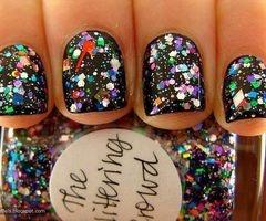galaxy: Nail Polish, Glitter Nail, Style, Nailart, Makeup, Nails, Sparkle, Beauty, Nail Art