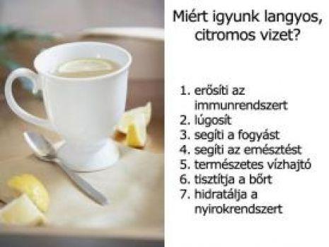 Miért igyunk langyos, citromos vizet?