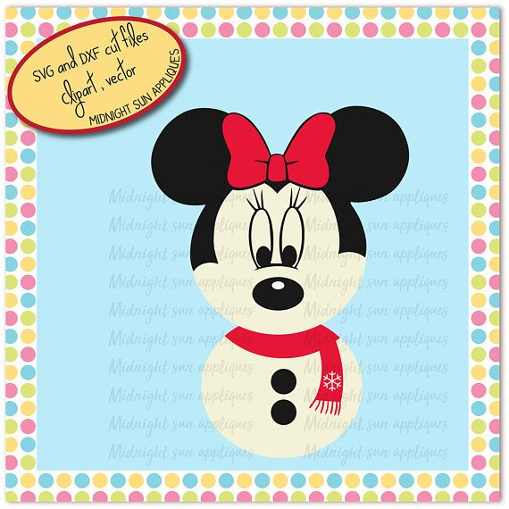 Minnie mouse SVGDXF clipart minnie mouse christmas svg