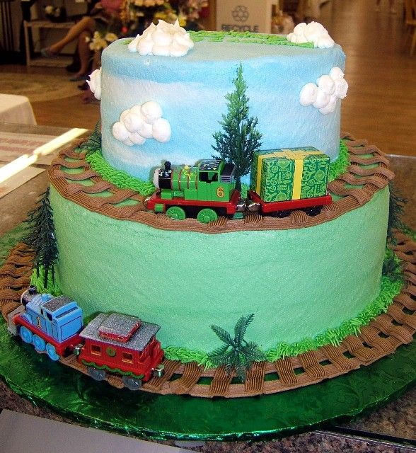Thomas the Train.  I wish I had been doing cakes when we had Tristens homas Party for his 3rd Birthday.