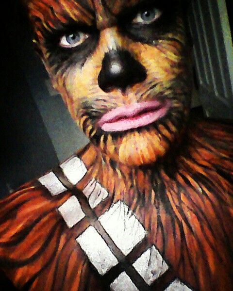 Chewbacca Face Paint Tutorial