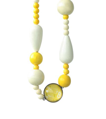 Sweet Sorbets Sunshine Yellow Necklace  www.cloudninecreative.co.nz