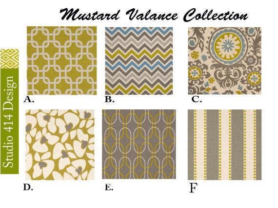 Mustard valance.Valance. Mustard Chevron Valance.Mustard Window Treatment.Kitchen Window Valance.Valance Window Treatment