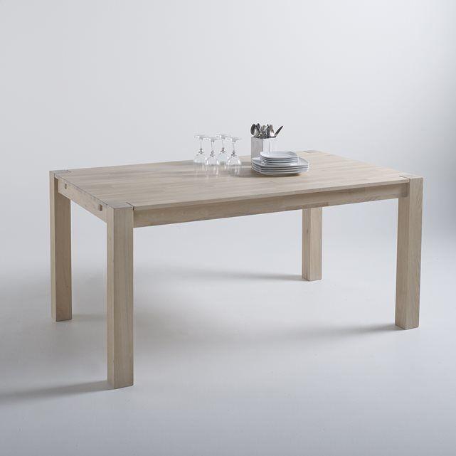 Table rectangulaire 2 allonges, chêne massif, 6 à 8 couverts Adelita La Redoute…