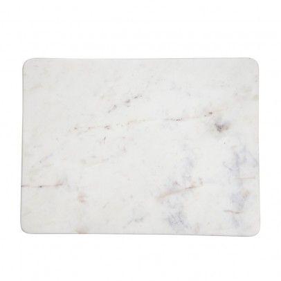 Madam Stoltz - Planche à découper rectangulaire en marbre Marbré blanc 23€