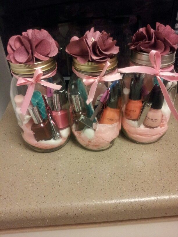 DIY Project #3: Manicure gift sets for my grown up slumber party.