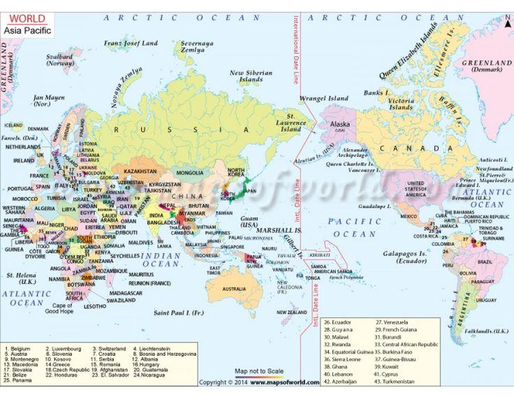 Mejores 214 imgenes de world map en pinterest mapas murales buy asia pacific map gumiabroncs Image collections