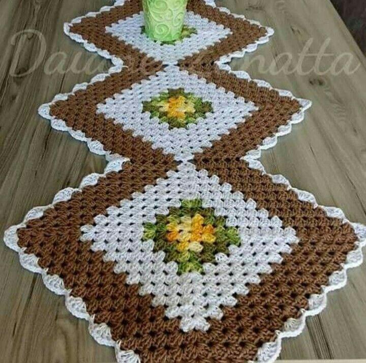 Centro De Mesa Triangular Em Croche Para Inspiracao De Todos Com