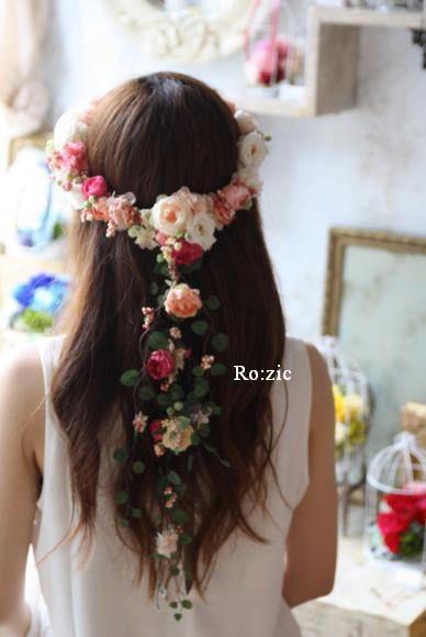 2015.1.28 花冠とリストレット 試着していただきました : Ro:zic die floristin