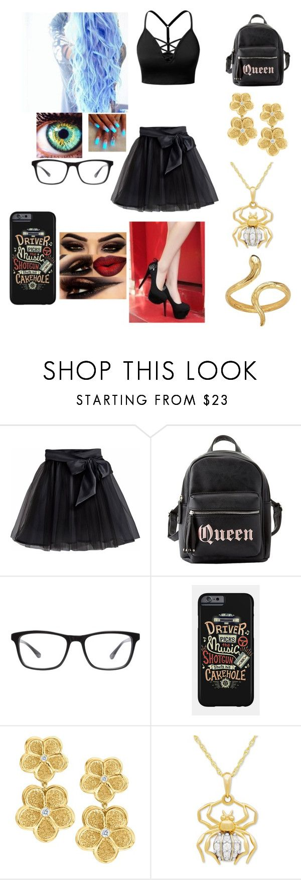 """Untitled #74"" by skyepicness on Polyvore featuring J.TOMSON, Little Wardrobe London, Charlotte Russe, Joseph Marc and Gumuchian"