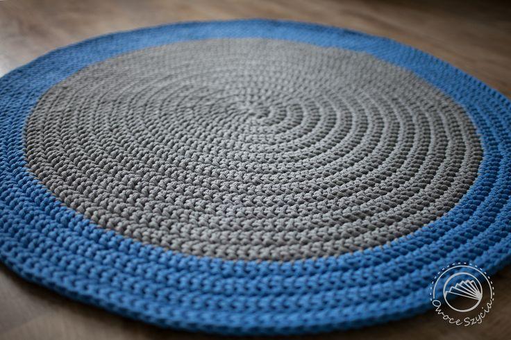 Dywan robiony na szydełku   Crochet rug