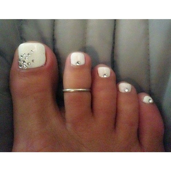 20 Easy Simple Toe Nail Art Designs, Ideas Trends 2014 For Beginners... ❤ liked on Polyvore