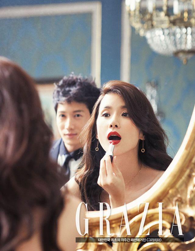 Ji Sung  Lee Bo Young Grazia Magazine October Issue '13